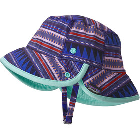 Patagonia Little Sol Hat Kids Belay Stripe: Imperial Blue